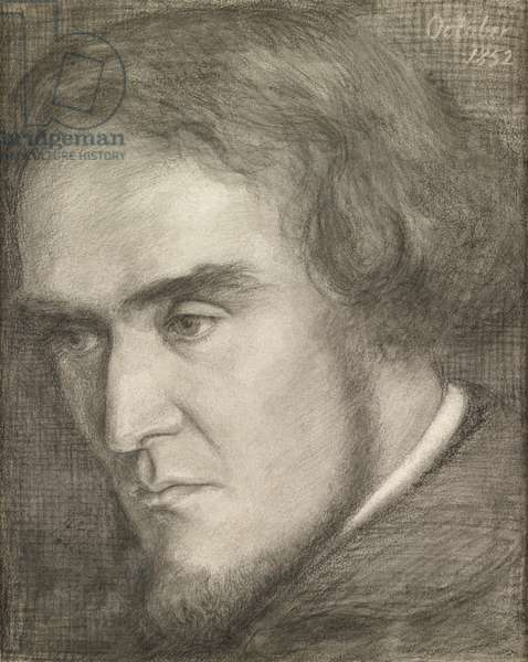 William Bell Scott, 1852 (pencil, chalk and wash on paper)