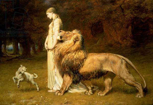 Una and the Lion, from Spenser's Faerie Queene, 1880 (oil on canvas)