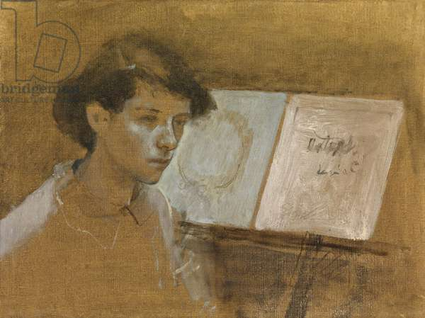 Girl with Viola (oil on canvas)