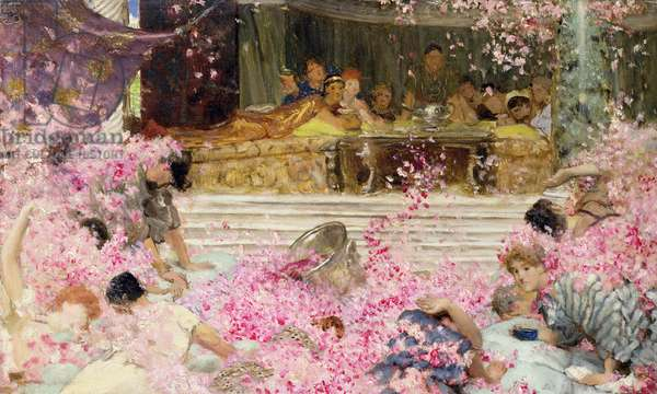 Study for The Roses of Heliogabulus, c.1888 (oil on canvas)