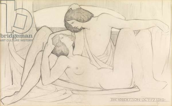 The Lovers, 1910 (pencil on paper)