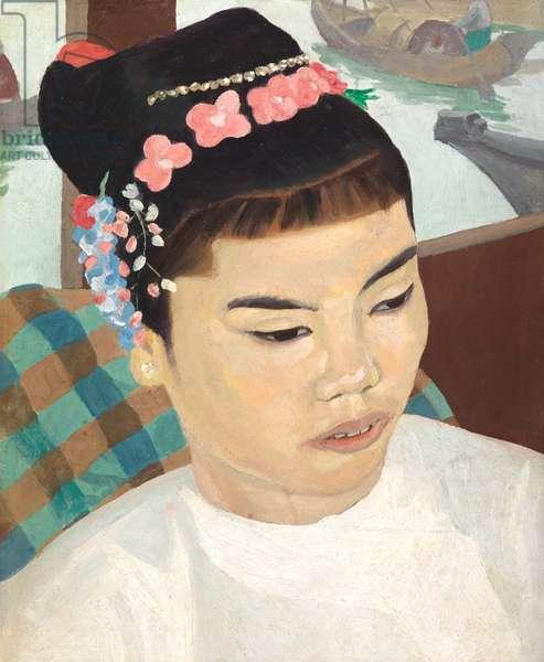 Burmese Girl (oil on card)
