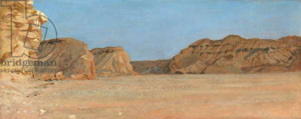 El Kab, Upper Egypt (oil on panel)