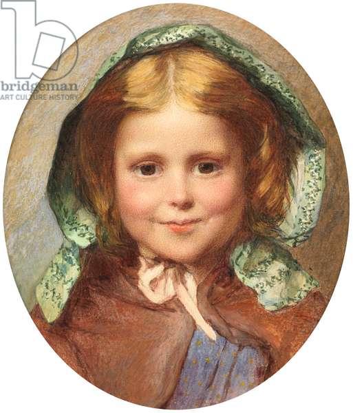 Girl in a Bonnet (w/c)