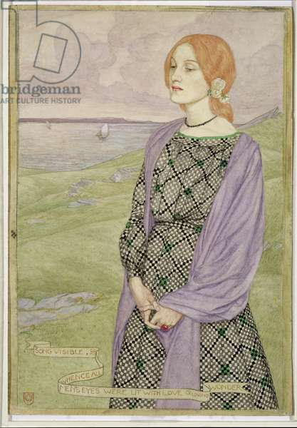 Song Visible, Whence All's Men's Eyes were Lit with Love and Loving Wonder, 1903 (w/c with bodycolour on paper)