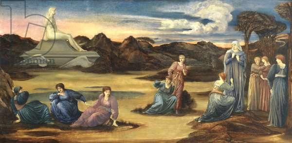 The Passing of Venus, c.1875 (oil on panel)