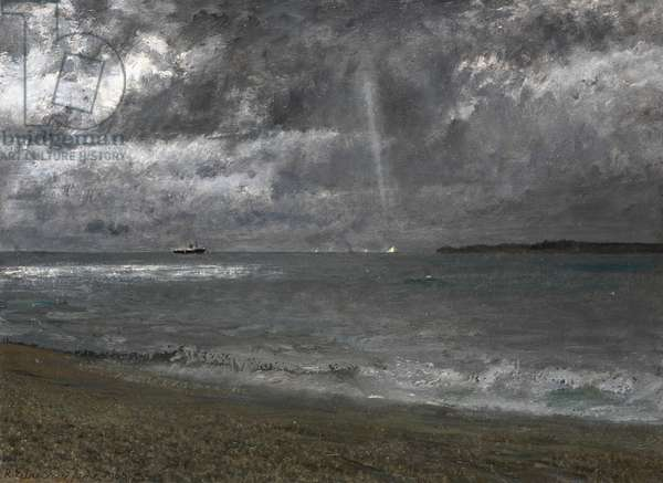 Stormy Morning in the Solent, 1968 (oil on board)