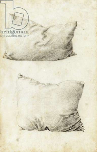 Studies of pillows (pencil)