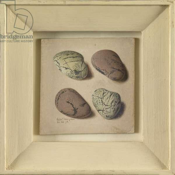Four Pebbles, 1975 (tempera on paper)