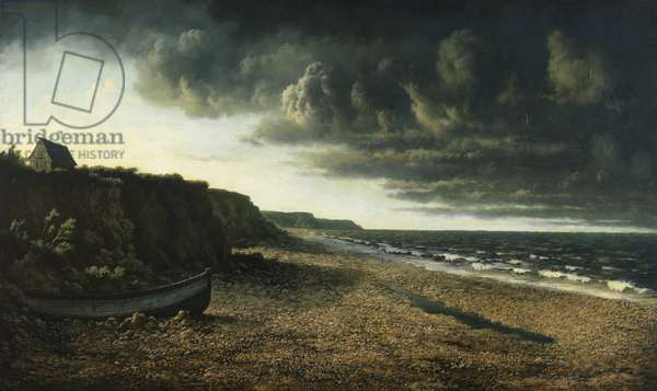 Stormy Sunset on the East Coast, 1939 (oil on canvas)