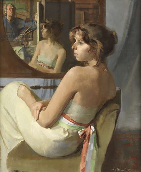 Stephanie in Profile, 1979 (oil on canvas)