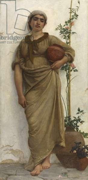 A Neapolitan Flower Seller, 1883 (oil on canvas)