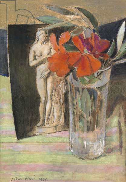 Postcard and Flower, 1995 (w/c, pencil & crayon on paper)