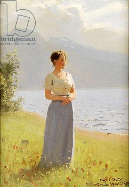 Strandheim, 1910 (oil on panel)