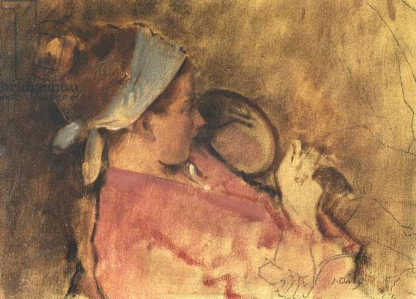 Girl with Looking Glass, 1955 (oil on canvas)