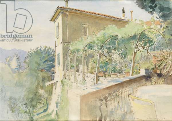 View from the Terrace, Barga, 1976 (w/c on paper)