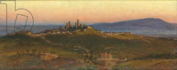 San Gimignano, 1898 (oil on panel)