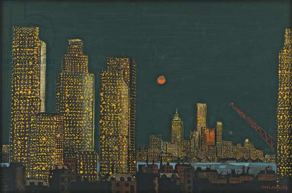 New York Skyscrapers, 1958 (oil on canvas)
