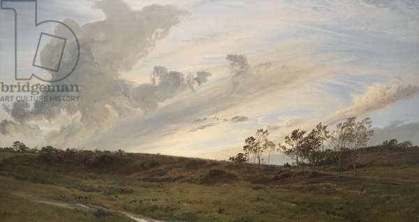 A Wild Evening After Rain, Yorkshire, 1869 (oil on canvas)