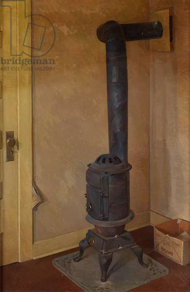 The Old Stove (oil on canvas)