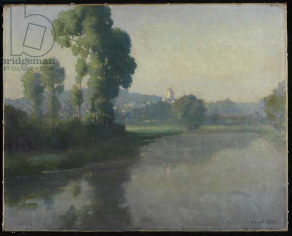 Early Morning, Picquigny, on the Somme (oil on canvas)