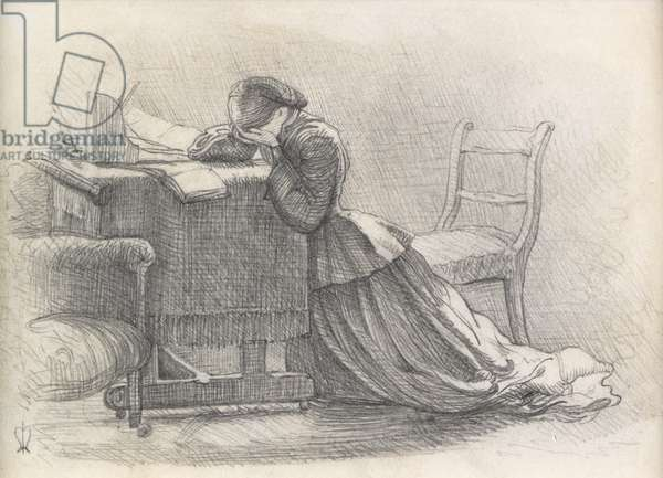A Wife - Illustration to a Poem, 1859 (pencil on paper)