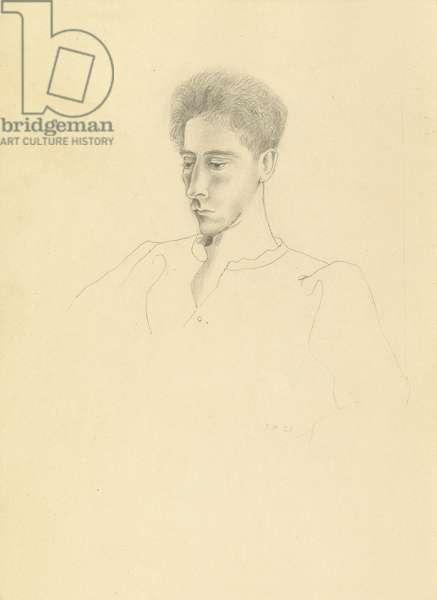Jean Cocteau, 1923 (pencil on paper)