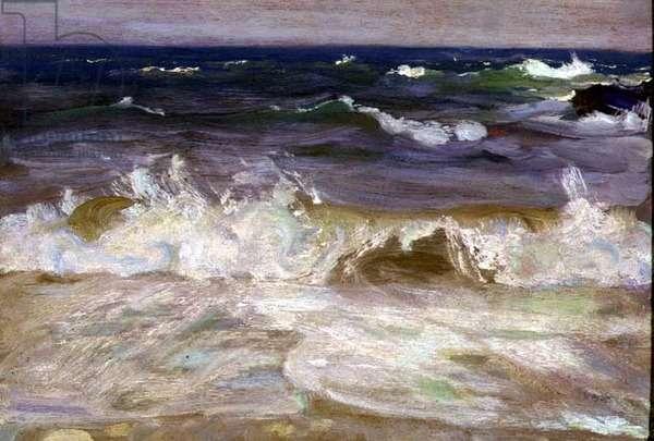Study of Waves, 1906 (panel)