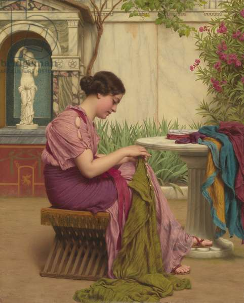 A Stitch is Free, or A Stitch in Time, 1917 (oil on canvas)