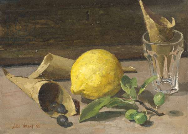 Still Life with Lemon, 1965 (oil on canvas)