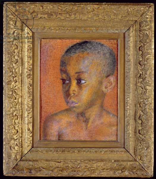 Study of a Negro Boy (oil on panel)