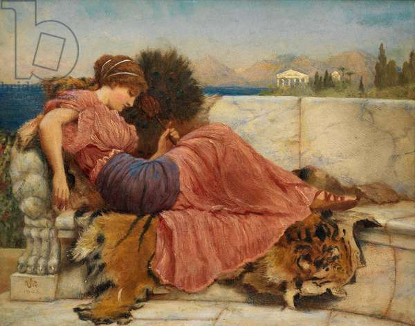 Sketch for 'Amaryllis', 1903 (oil on board)