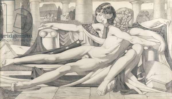 Eros and Aphrodite, 1910 (pencil on paper)