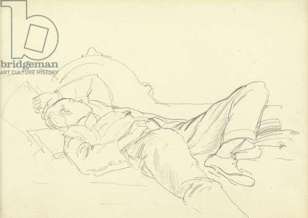 Sleeping boy (pencil on paper)