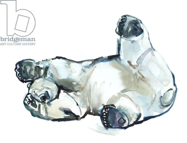 Snow Rub (Polar Bear), 2013 (watercolour and gouache on paper)