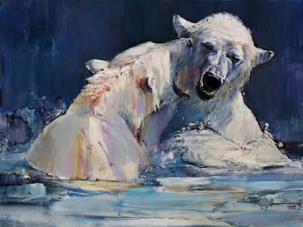 Ice Play, 2016, (oil on canvas)
