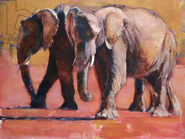 Heat, Ol Pejeta, 2018, (oil on canvas)