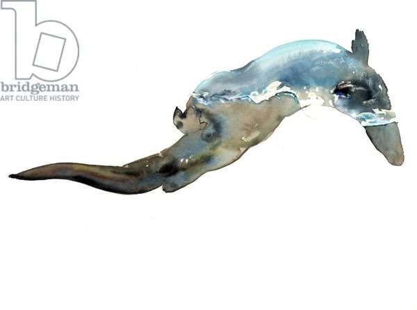 Waterline, 2014, (watercolour on paper)