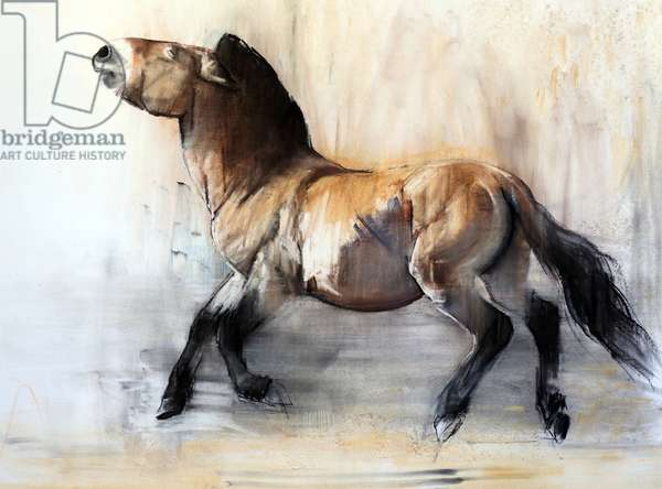 Ancient Horse (Przewalski in winter), 2014, (pastel and charcoal on paper)