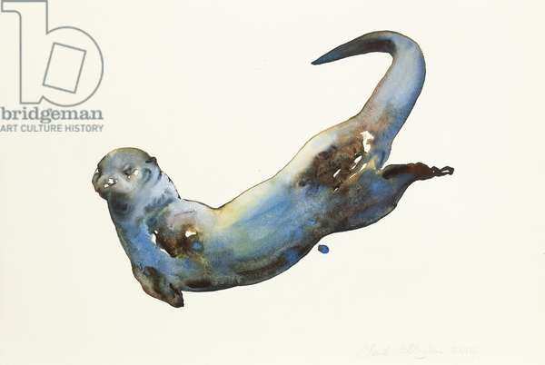 Aqua, 2014, (watercolour on paper)