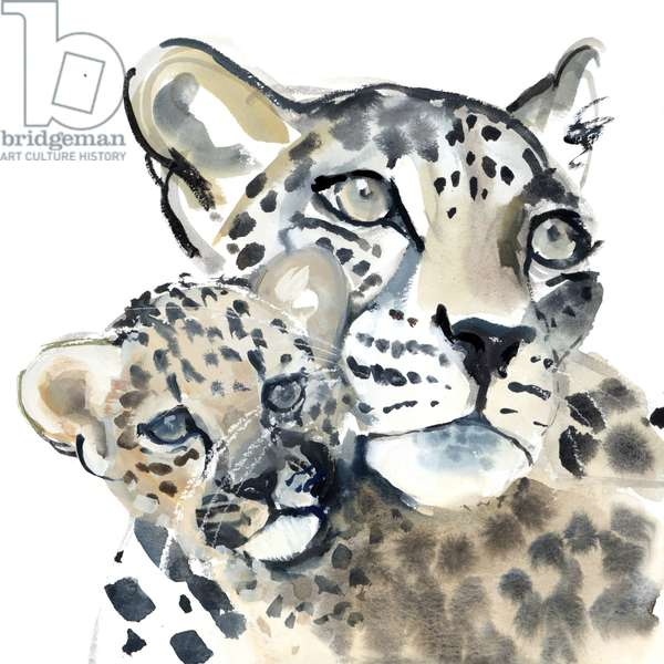 Maternal Bond, 2015, (watercolour on paper)