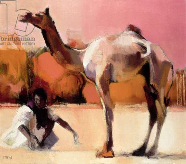 dsu and Said, Rann of Kutch, 1996 (oil on canvas)