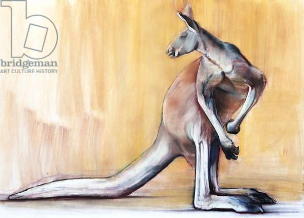 Big Red (Kangaroo), 2014, (pastel and charcoal on paper)