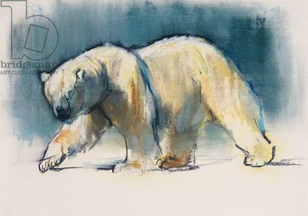 Arctic Light, 2017, (conté and pastel on paper)
