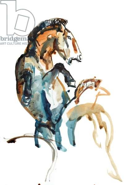 Spirit (Przewalski), 2013 (sennelier ink, gouache and watercolour)