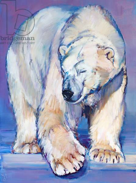 Great White Bear, 2016, (oil on canvas)
