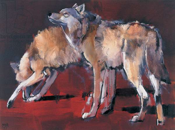 Loups, 2001 (oil on canvas)