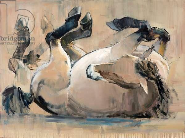 Roll, (Przewalski), 2014, (oil on canvas)