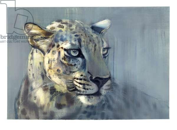 Predator II (Arabian Leopard), 2009 (oil on paper)
