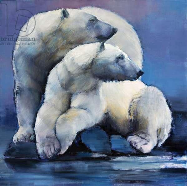 Moon Bears, 2016, (oil on canvas)